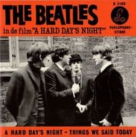 THE BEATLES A Hard Day's Night Vinyl Record 7 Inch Parlophone 2019